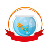 Fish in aquarium pet. Vector illustration design Royalty Free Stock Photos