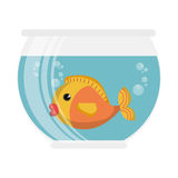 Fish in aquarium pet. Vector illustration design Royalty Free Stock Image