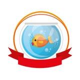 Fish in aquarium pet. Vector illustration design Royalty Free Stock Photo