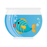 Fish in aquarium pet. Vector illustration design Royalty Free Stock Photography