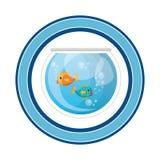 Fish in aquarium pet. Vector illustration design Stock Image