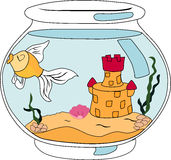 Fish in an aquarium. Vector illustration Royalty Free Stock Photography