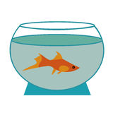 Fish in an aquarium Vector illustration Stock Image