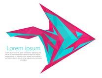 Fish arrow logo modern material design concept Royalty Free Stock Image