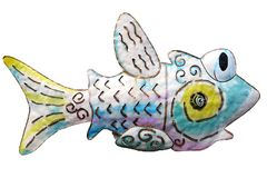 Fish Art. Cartoon fish made with metal and spray paint Stock Photo