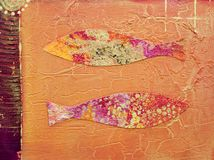 Fish artwork Royalty Free Stock Images