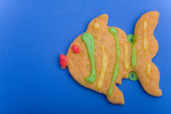 Fish as cookie Stock Photography