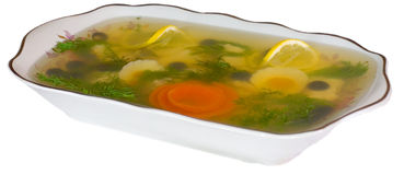 Fish in aspic Stock Image