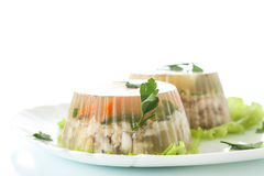 Fish in aspic Stock Photos