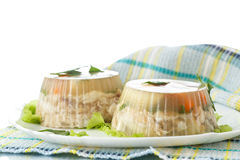 Fish in aspic Royalty Free Stock Photography