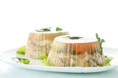 Fish in aspic Royalty Free Stock Photo