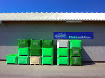 Fish auction Stock Photo