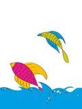 Fish background. Illustration isolated on white Royalty Free Stock Images