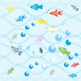 Fish background. Royalty Free Stock Photos