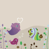 Fish background. This image is a vector illustration and can be scaled to any size without loss of resolution. This image will download as a .eps file. You will Royalty Free Stock Photography