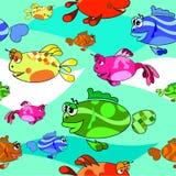 Fish background,. Beautiful collection of fish background, Seamless pattern Stock Photo