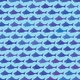 Fish background. Colorful illustration with  abstract fish background for your design Stock Photography