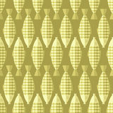 Fish background. Gold background. Vector seamless pattern Stock Photography