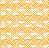 Fish background pattern yellow. Vector illustration Stock Photos