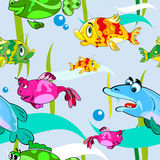 Fish background, Seamless pattern Royalty Free Stock Image