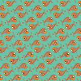 Fish background vector. Seamless pattern of simple fish illustration. Fish background. Seamless pattern of fish on light background - Vector illustration Royalty Free Stock Photos