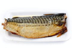 Fish baked in the oven royalty free stock photo