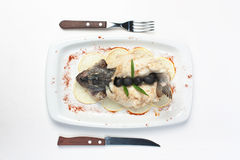 Fish baked in pastry Royalty Free Stock Images