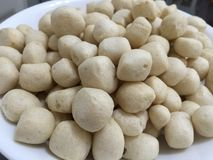 Fish ball crackers Stock Images