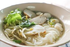 Fish ball or fish ball noodle Royalty Free Stock Image