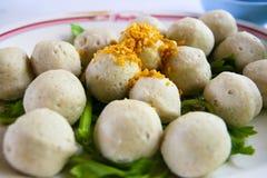 Fish Ball with Garlic stock photo