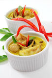 Fish ball green  curry. Royalty Free Stock Photo