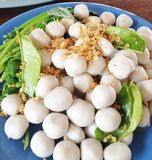 Fish ball with herb royalty free stock photo