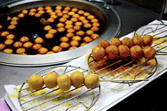 Fish ball. A must try food in Night Market of Taiwan. Chinese Steam bot or luk luk . A local must try food in a night market of Taiwan. There's various kind of royalty free stock image