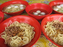 Fish Ball Noddle soup Royalty Free Stock Image