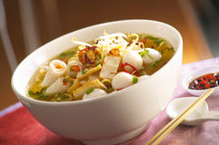 Fish ball noodle Stock Photography