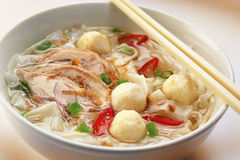 Fish ball Noodles Stock Photo