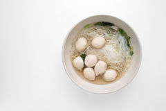 Fish ball noodles Royalty Free Stock Photo