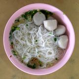 Fish ball with rice noodle Royalty Free Stock Photos