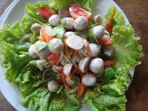 Fish ball salad royalty free stock photo