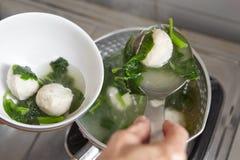 Fish ball soup Stock Image