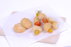 Fish ball. On white background Royalty Free Stock Photography