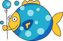 FISH WITH BALLOON Royalty Free Stock Images