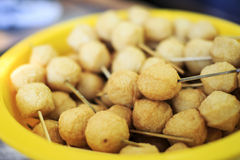 Fish balls. A basin of big and delicious fish balls Stock Photo