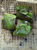 Fish in banana Leaves Stock Photo