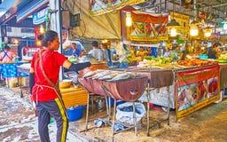 Fish barbecue in Talad Saphan Phut market, Bangkok, Thailand