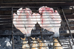 Fish in barbeque. Stock Image
