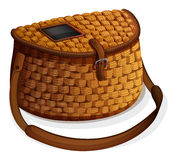 Fish basket. Wooden fish basket made by hand Stock Images