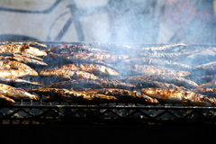 Fish BBQ Stock Photography