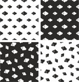 Fish Big & Small Aligned & Random Seamless Pattern Set. This image is a illustration and can be scaled to any size without loss of resolution Royalty Free Stock Photography