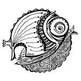 Fish-bird. Vector scene of the bird-fish Stock Images